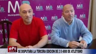 SE DISPUTARA LA TERCERA EDICION DE 2 X 4000 DE ATLETISMO