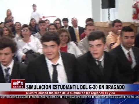 SIMULACION ESTUDIANTIL DEL G 20 EN BRAGADO