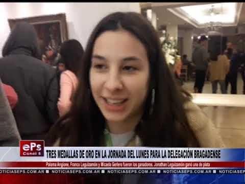 TRES MEDALLAS DE ORO EN LA JORNADA DEL LUNES PARA LA DELEGACIÓN BRAGADENSE