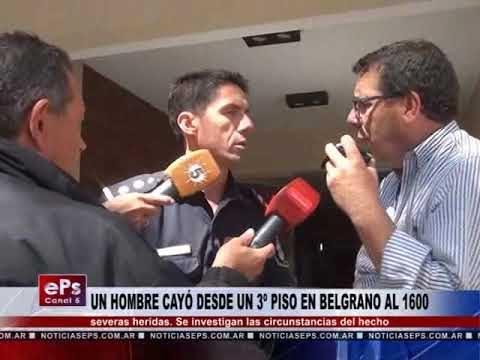 UN HOMBRE CAYÓ DESDE UN 3º PISO EN BELGRANO AL 1600