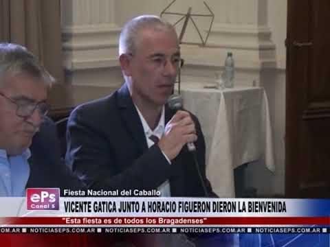 VICENTE GATICA JUNTO A HORACIO FIGUERON DIERON LA BIENVENIDA