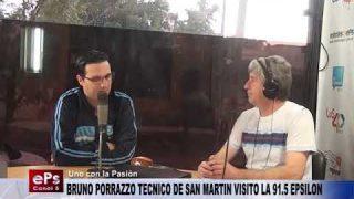 BRUNO PORRAZZO TECNICO DE SAN MARTIN VISITO LA 91.5