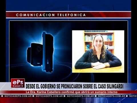 DESDE EL GOBIERNO SE PRONUCIARON SOBRE EL CASO SILINGARDI