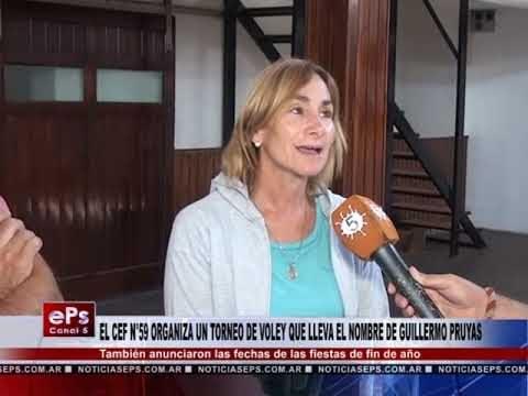 EL CEF N°59 ORGANIZA UN TORNEO DE VOLEY QUE LLEVA EL NOMBRE DE GUILLERMO PRUYAS