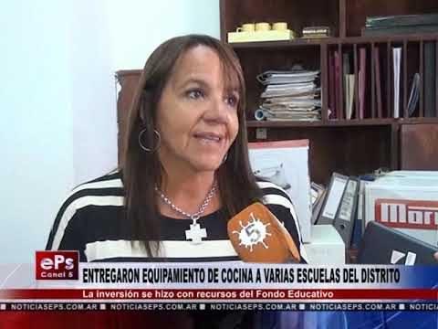 ENTREGARON EQUIPAMIENTO DE COCINA A VARIAS ESCUELAS DEL DISTRITO