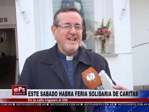 ESTE SABADO HABRA FERIA SOLIDARIA DE CARITAS
