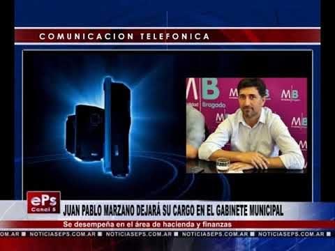 JUAN PABLO MARZANO DEJARÁ SU CARGO EN EL GABINETE MUNICIPAL