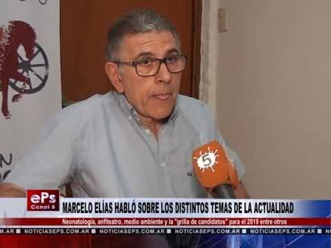 MARCELO ELÍAS HABLÓ SOBRE LOS DISTINTOS TEMAS DE LA ACTUALIDAD 1ªPARTE