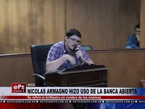 NICOLAS ARMAGNO HIZO USO DE LA BANCA ABIERTA