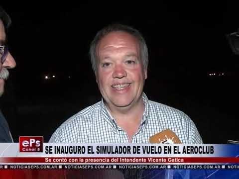 SE INAUGURO EL SIMULADOR DE VUELO EN EL AEROCLUB