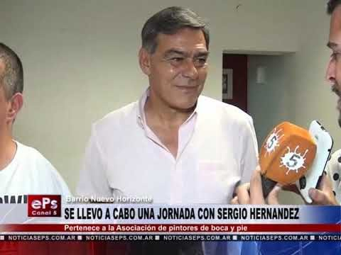 SE LLEVO A CABO UNA JORNADA CON SERGIO HERNANDEZ