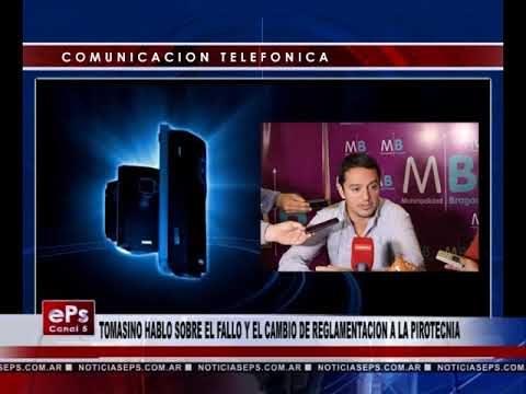 TOMASINO HABLO SOBRE EL FALLO Y EL CAMBIO DE REGLAMENTACION A LA PIROTECNIA