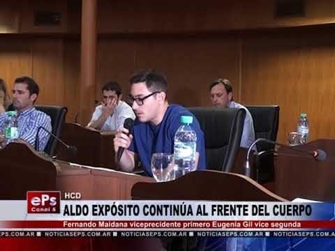 ALDO EXPÓSITO CONTINÚA AL FRENTE DEL CUERPO