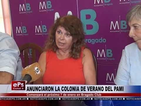 ANUNCIARON LA COLONIA DE VERANO DEL PAMI