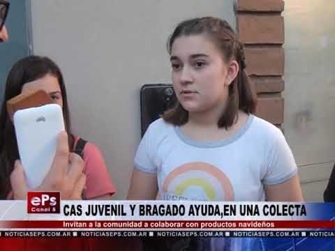 CAS JUVENIL Y BRAGADO AYUDA,EN UNA COLECTA