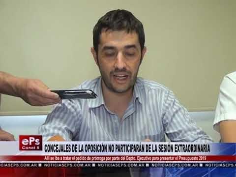 CONCEJALES DE LA OPOSICIÓN NO PARTICIPARÁN DE LA SESIÓN EXTRAORDINARIA