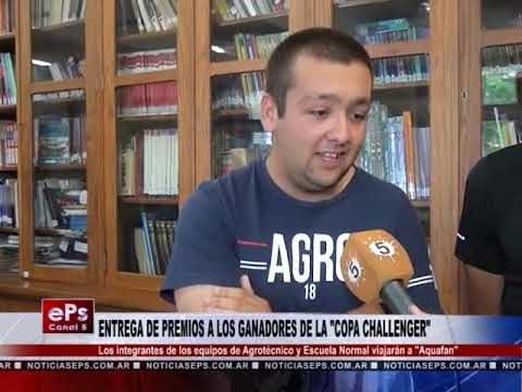 ENTREGA DE PREMIOS A LOS GANADORES DE LA COPA CHALLENGER