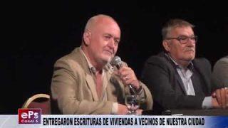 ENTREGARON ESCRITURAS DE VIVIENDAS A VECINOS DE NUESTRA CIUDAD