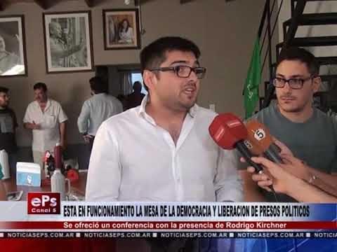 ESTA EN FUNCIONAMIENTO LA MESA DE LA DEMOCRACIA Y LIBERACION DE PRESOS POLITICOS