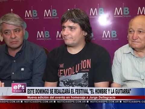 ESTE DOMINGO SE REALIZARÁ EL FESTIVAL EL HOMBRE Y LA GUITARRA