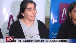LA FERIA FRANCA CUMPLE 7 AÑOS Y LO FESTEJARÁ MAÑANA SÁBADO