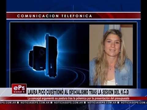 LAURA PICO CUESTIONÓ AL OFICIALISMO TRAS LA SESION DEL HCD