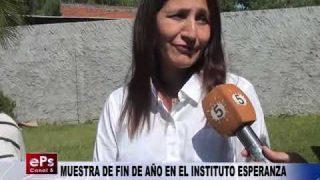MUESTRA DE FIN DE AÑO EN EL INSTITUTO ESPERANZA