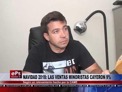 NAVIDAD 2018 LAS VENTAS MINORISTAS CAYERON 9%