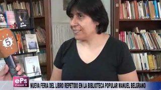 NUEVA FERIA DEL LIBRO REPETIDO EN LA BIBLIOTECA POPULAR MANUEL BELGRANO