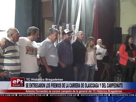 SE ENTREGARON LOS PREMIOS DE LA CARRERA DE OLASCOAGA Y DEL CAMPEONATO