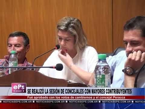 SE REALIZÓ LA SESIÓN DE CONCEJALES DE MAYORES CONTRIBUYENTES
