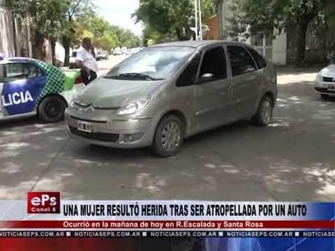 UNA MUJER RESULTÓ HERIDA TRAS SER ATROPELLADA POR UN AUTO