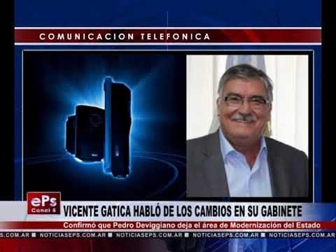 VICENTE GATICA HABLÓ DE LOS CAMBIOS EN SU GABINETE