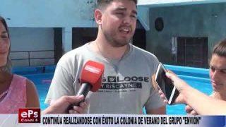 CONTINÚA REALIZANDOSE CON ÉXITO LA COLONIA DE VERANO DEL GRUPO ENVIÓN