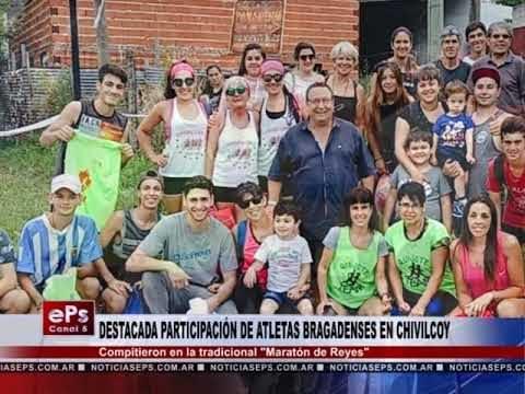 DESTACADA PARTICIPACIÓN DE ATLETAS BRAGADENSES EN CHIVILCOY