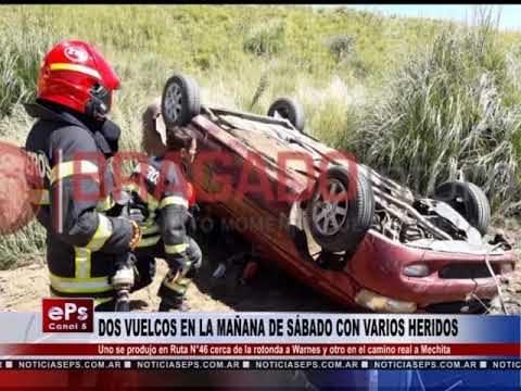 DOS VUELCOS EN LA MAÑANA DE SÁBADO CON VARIOS HERIDOS