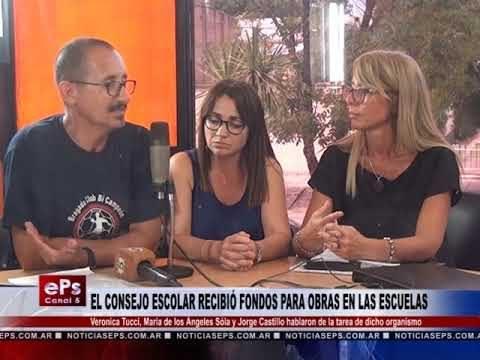 EL CONSEJO ESCOLAR RECIBIÓ FONDOS PARA OBRAS EN LAS ESCUELAS PARTE 2