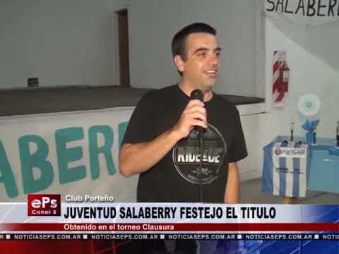 JUVENTUD SALABERRY FESTEJO EL TITULO