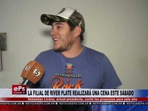 LA FILIAL DE RIVER PLATE REALIZARÁ UNA CENA ESTE SÁBADO