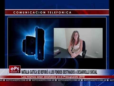 NATALIA GATICA SE REFIRIÓ A LOS FONDOS DESTINADOS A DESARROLLO SOCIAL