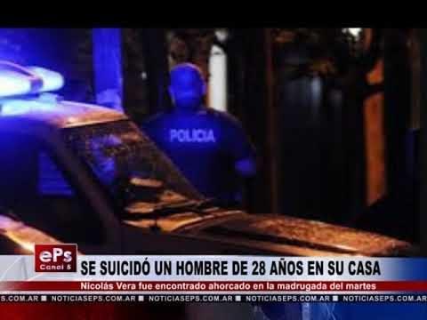 SE SUICIDÓ UN HOMBRE DE 28 AÑOS EN SU CASA