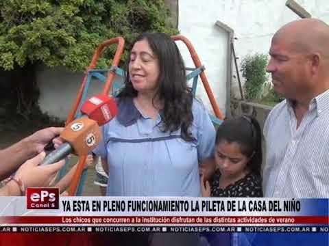 YA ESTA EN PLENO FUNCIONAMIENTO LA PILETA DE LA CASA DEL NIÑO