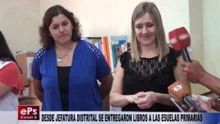 DESDE JEFATURA DISTRITAL SE ENTREGARON LIBROS A LAS ESUELAS PRIMARIAS