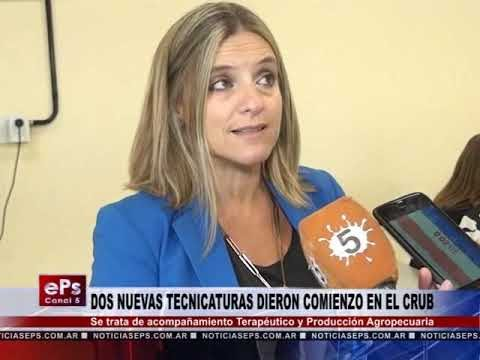 DOS NUEVAS TECNICATURAS DIERON COMIENZO EN EL CRUB
