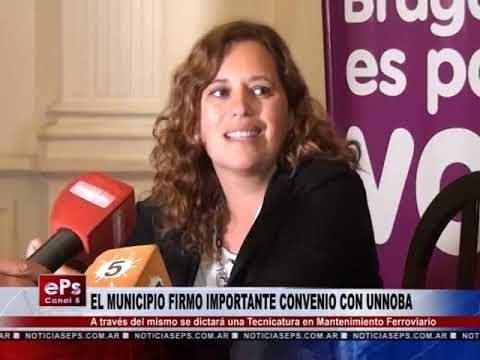 EL MUNICIPIO FIRMO IMPORTANTE CONVENIO CON UNNOBA