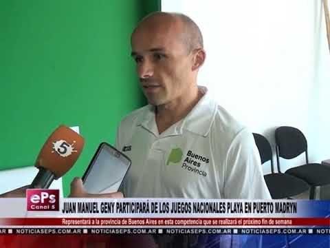 JUAN MANUEL GENY PARTICIPARÁ DE LOS JUEGOS NACIONALES PLAYA EN PUERTO MADRYN