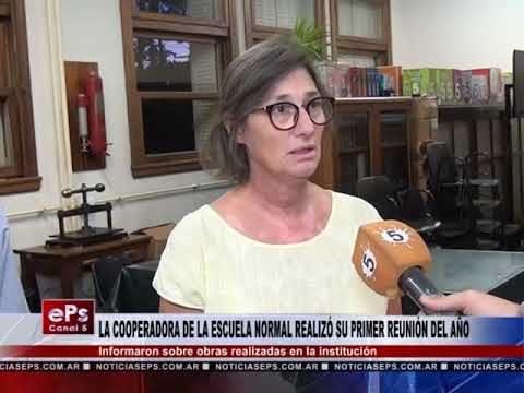 LA COOPERADORA DE LA ESCUELA NORMAL REALIZÓ SU PRIMER REUNIÓN DEL AÑO