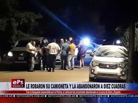 LE ROBARON SU CAMIONETA Y LA ABANDONARON A DIEZ CUADRAS