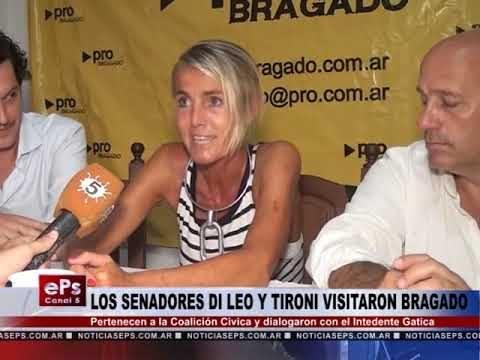 LOS SENADORES DI LEO Y TIRONI VISITARON BRAGADO