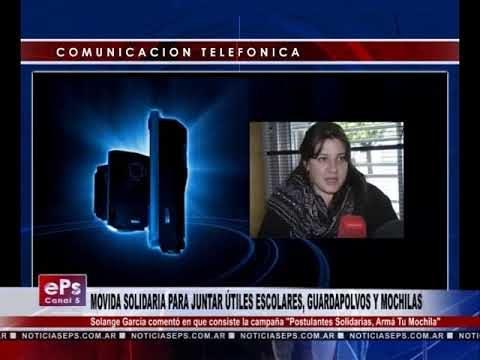 MOVIDA SOLIDARIA PARA JUNTAR ÚTILES ESCOLARES, GUARDAPOLVOS Y MOCHILAS